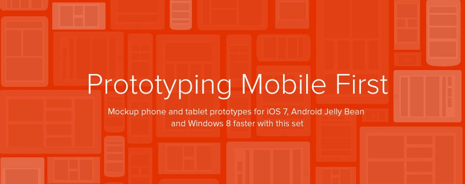 Prototyping Mobile First iOS7, Android Jelly Bean, WP8 templates