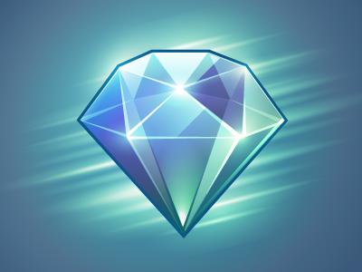 Diamond Game Icon Design Glowing Art Diamond Drawing