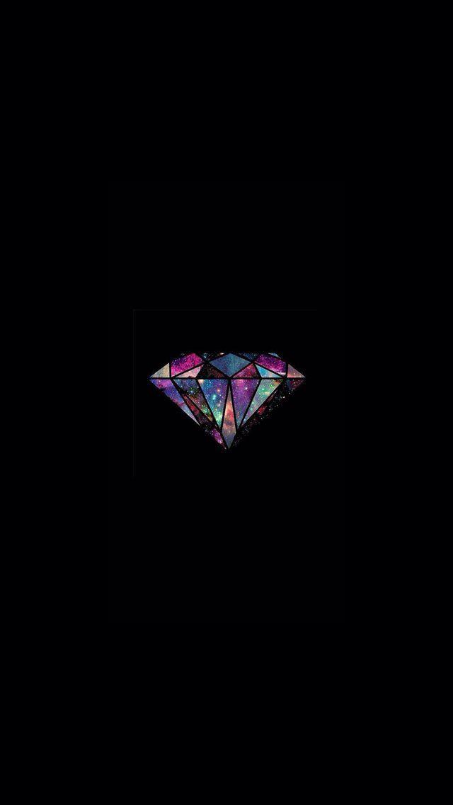 Diamond Universe Minimal Illustration  iPhone 8 Wallpapers