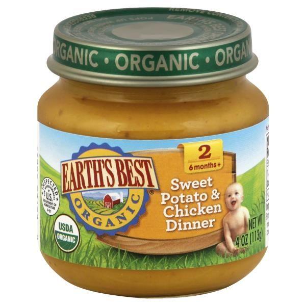 Earths Best Organic Sweet Potato & Chicken Dinner (2 Months +)