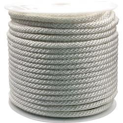 Rope King 1/2 in. x 300 ft. Solid Braided Nylon Rope White, Multicolor