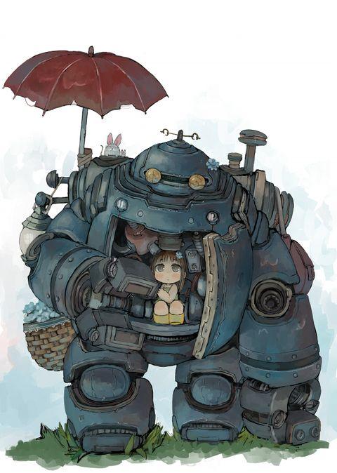 少女とロボットエビ桃のイラスト Pixiv ゴーレム
