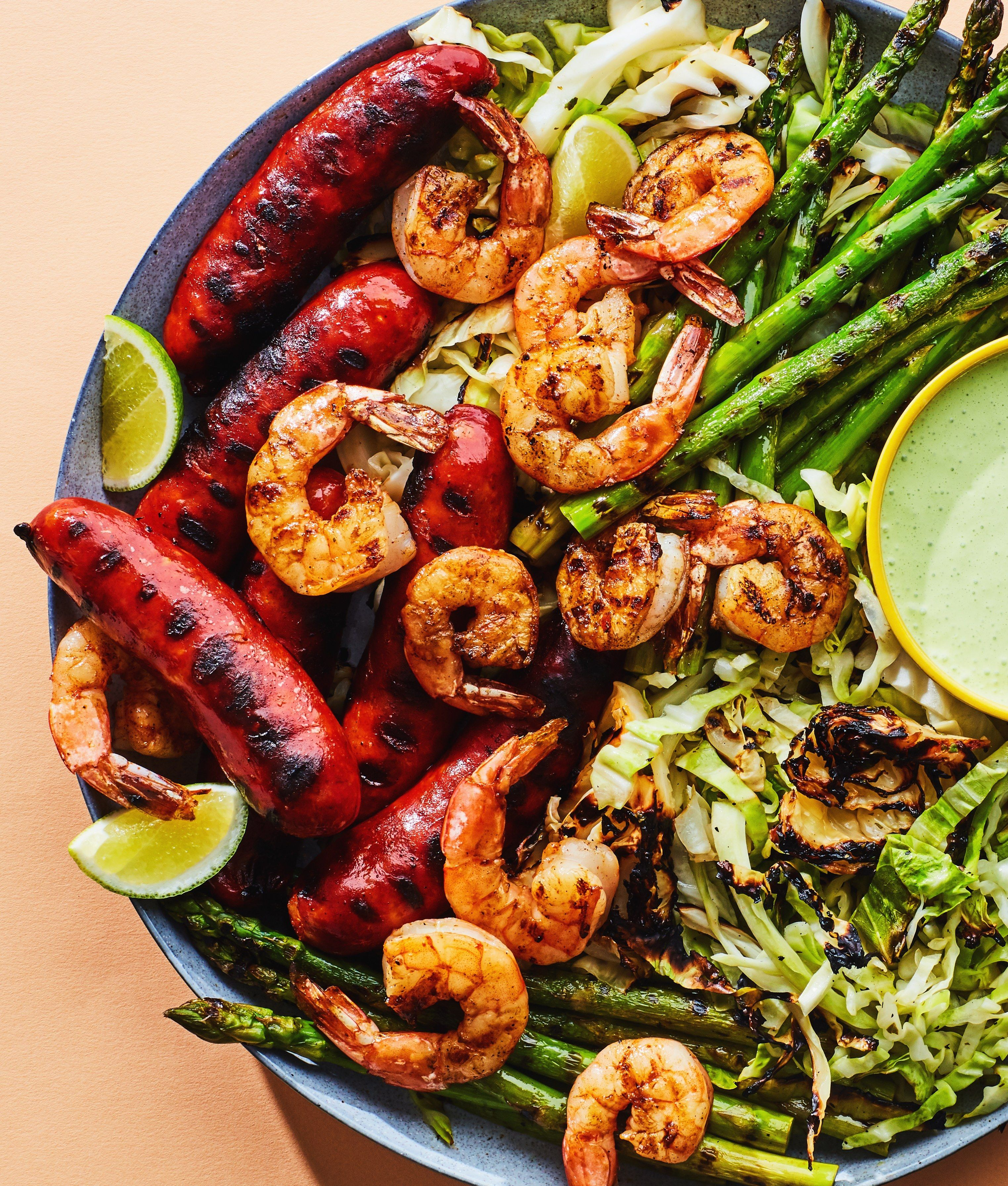 Shrimp And Chorizo Mixed Grill Recipe Mixed Grill Outdoor Cooking Recipes Bbq Recipes