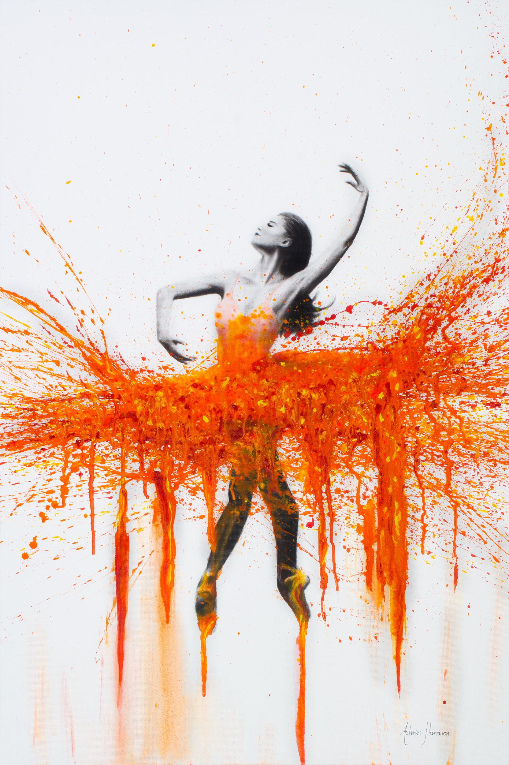 This art piece is inspired by fire and passion! Explosive feelings for the  pleasures in life and how movement can evoke happiness and joy like the  heat from ...