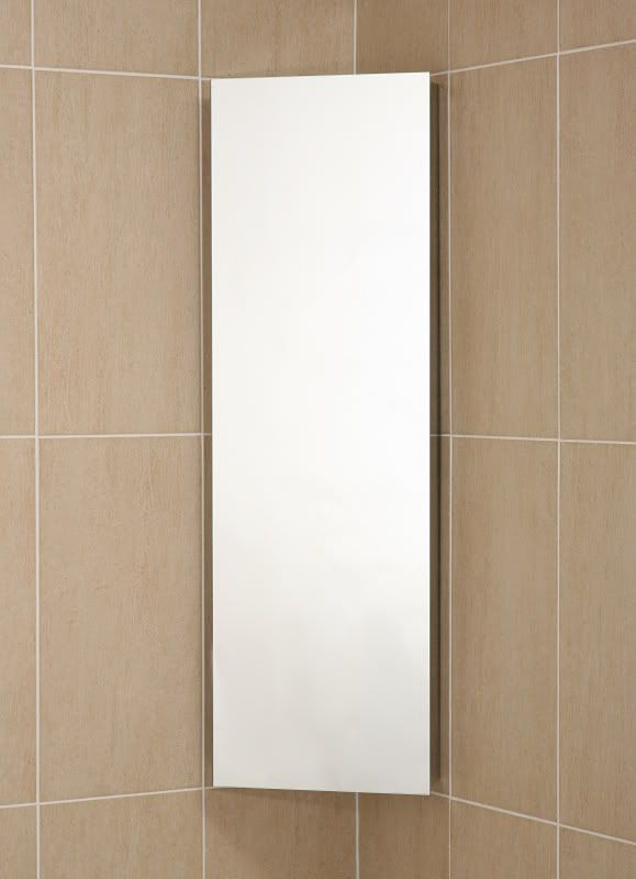 Ebay Deluxe Stainless Steel Mirrored Corner Bathroom Cabinet With Deep Utility Door C1cr 114