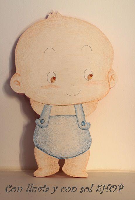 Decoraci n infantil personalizada y letras decorativas - Siluetas madera infantiles ...