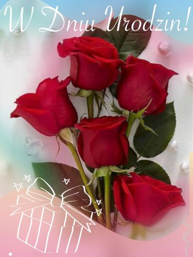 Kartka Urodzinowe Roze I Najlepsze Zyczenia Dla Ciebie E Kartki Net Pl Happy Birthday Birthday Happy