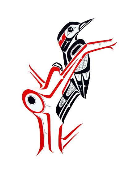 northwest coast native art glen rabena woodpecker