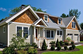 Best Remodeled Ranch Exterior Cedar Shake Siding Gable Ends Gray Siding Metal Shed Roof Mixed With 400 x 300