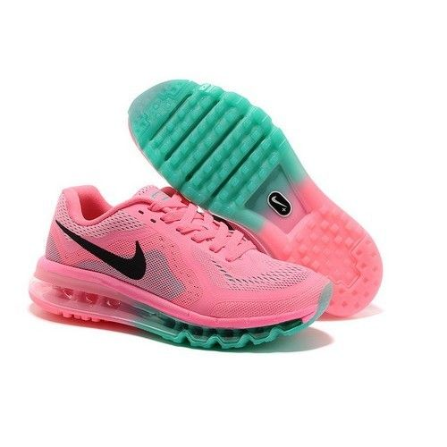 Nike Air Max 2014 Womens Running Shoes Pink/Black,Green