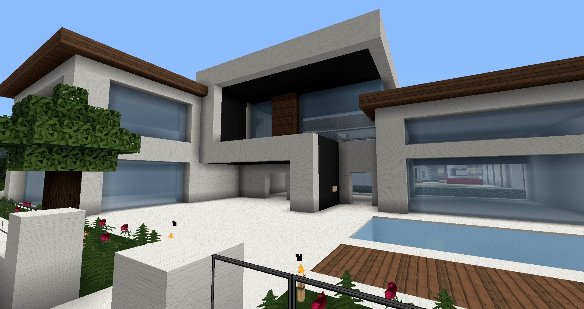 Really nice modern houses - Flows Hd Texture Pack For Minecraft A Really Nice Modern Hd Pack I Use It For All Of My Modern Builds