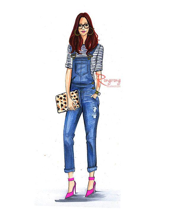 Mode-Illustration-Skizze Mode Kunst von RongrongIllustration