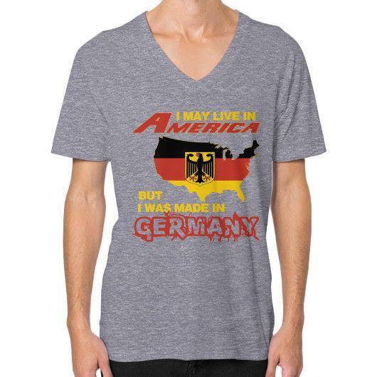 German in america V-Neck (on man)