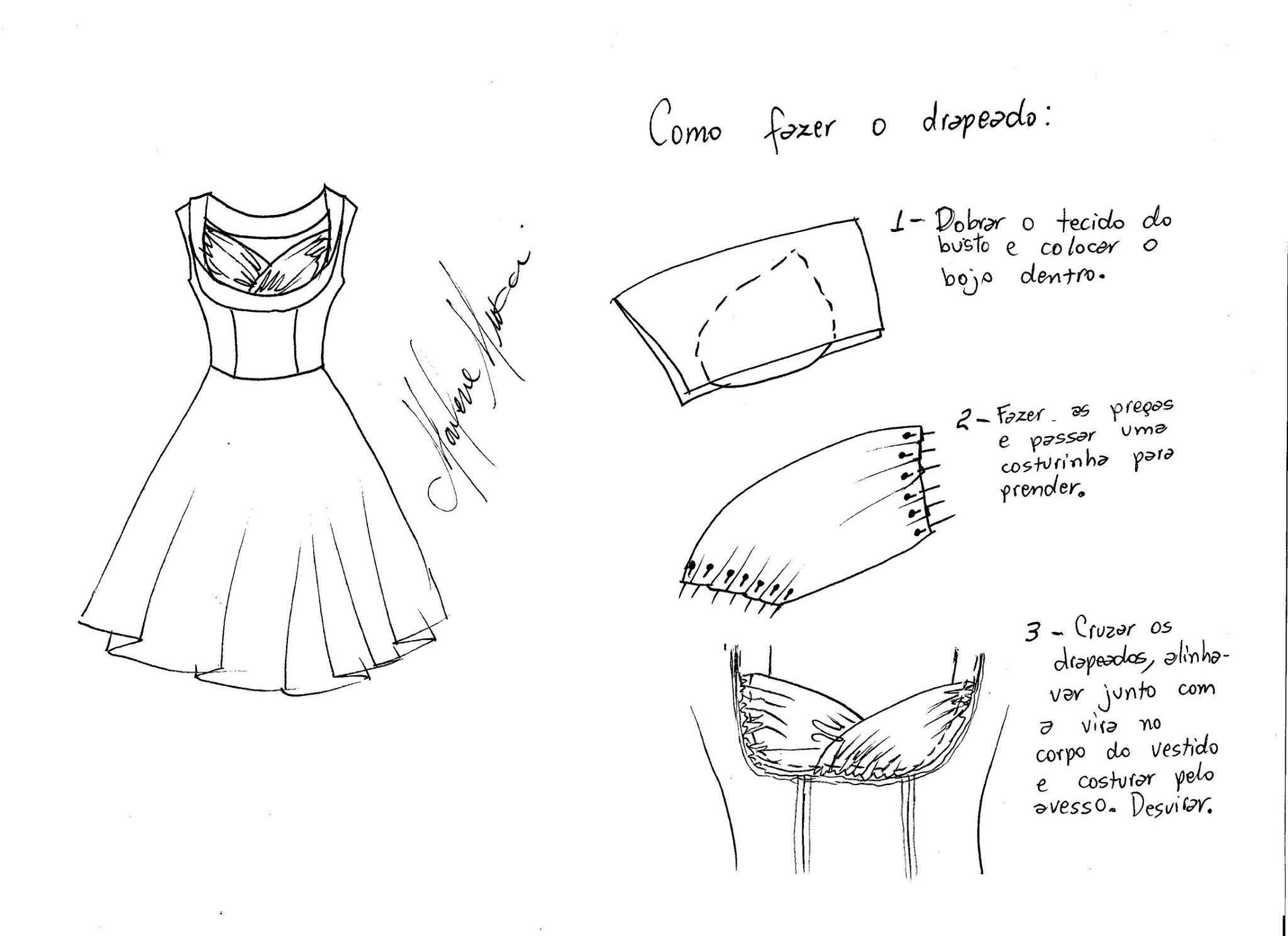 Vestido vintage drapeado con patrones | el amplio mundo de la ...