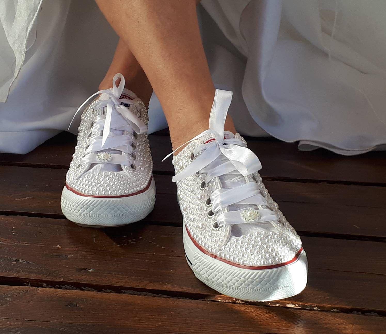 Bridal Sneaker Wedding Converse Bridal Converse Wedding   Etsy ...