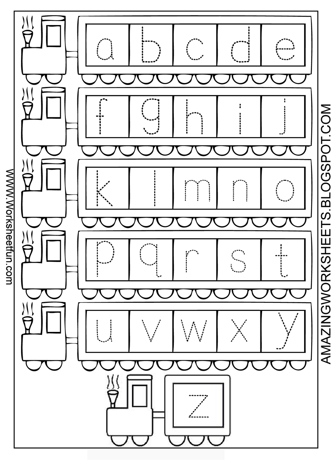 Alphabet Worksheets For Kindergarten A Z Worksheetfun