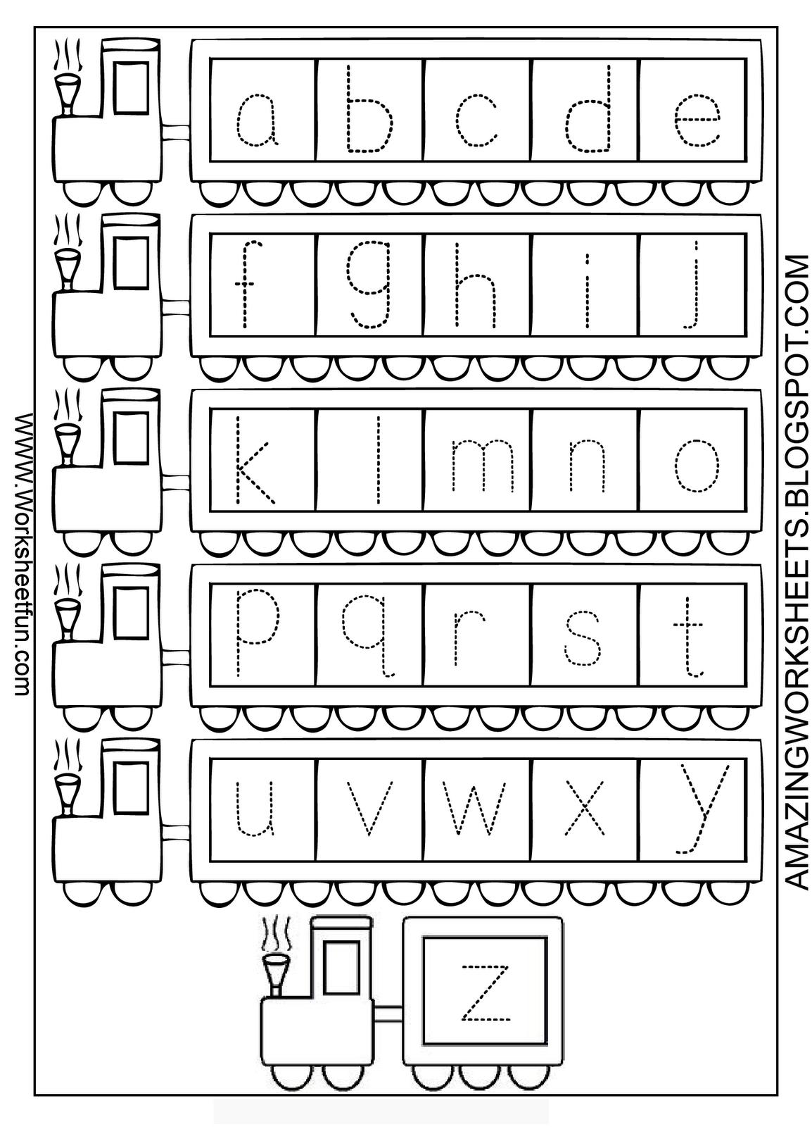 Alphabet Worksheets For Kindergarten A Z Worksheetfun