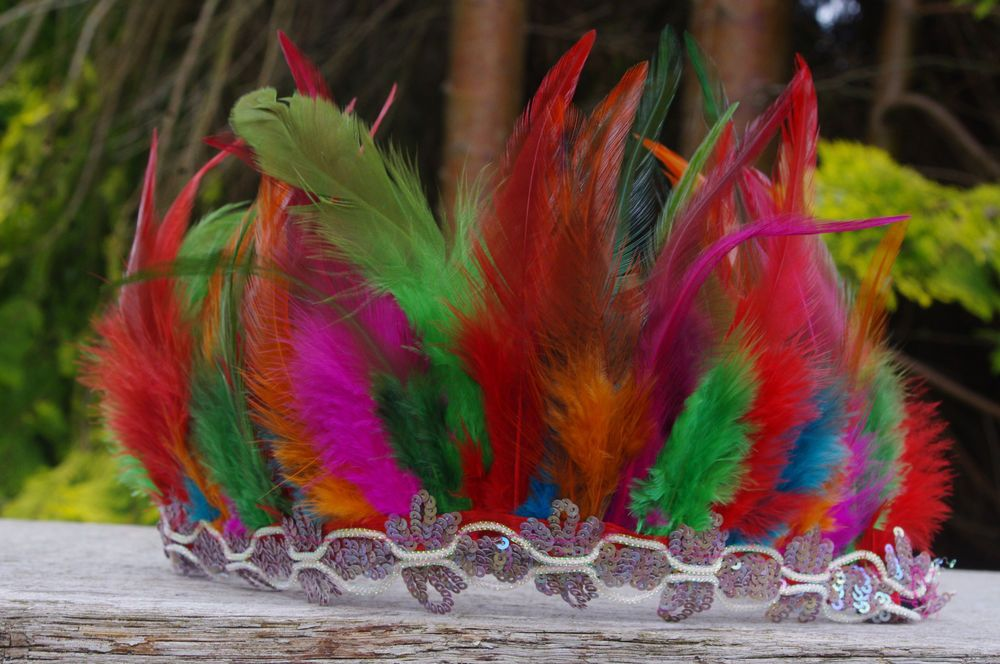 Festival Feather Headdress/ Boho chic Headband/  Indian Feather Headdress