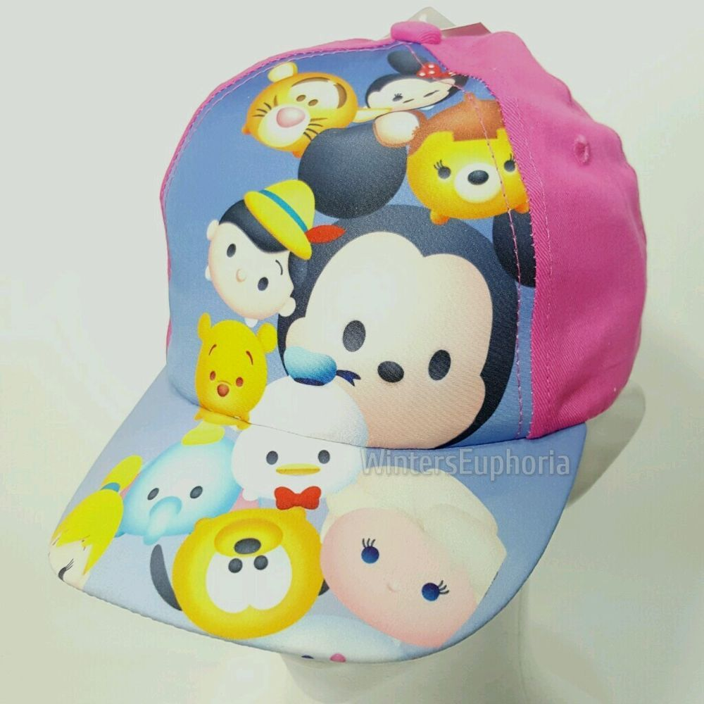 new concept 07bf4 b676f Disney Tsum Tsum Baseball Hat Adjustable Girls Cap, Mickey Tigger Pooh  Minnie  Disney  BaseballCap