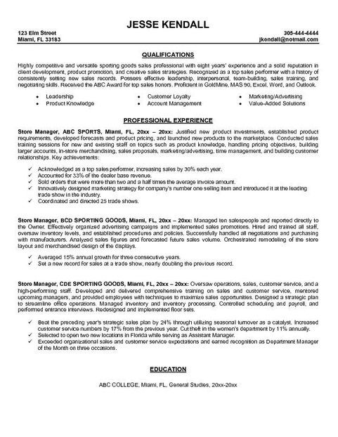 Executive Resume Examples Sports Executive Executive Resume - resume website example