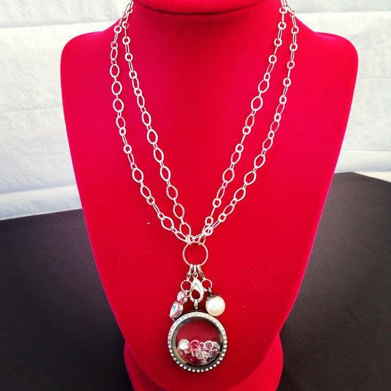 32 inch sterling silver loop necklace for locket by LucysLocketss, $20.00