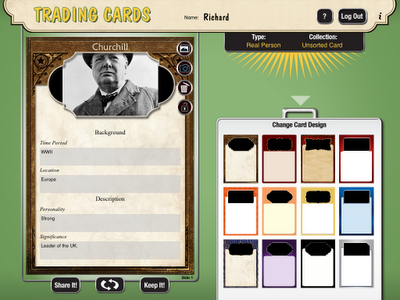 Create Trading Cards For Historical And Fictional People Places And Events Teaching Social Studies Trading Card Template Social Studies Middle School