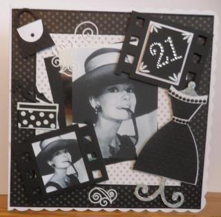 My version of Liz's Audrey Hepburn card