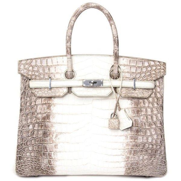 2facd6c21ae Brand New Hermès Birkin 35 cm Himalayan Niloticus Crocodile (122 660 AUD) ❤  liked on Polyvore featuring white bag, crocodile bags, hermes bag, ...
