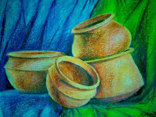 Manmade Objects In Oil Pastel In 2020 Oil Pastel Art Object