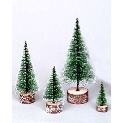 Vickerman 0.6' Green Frosted Artificial Village Christmas Tree