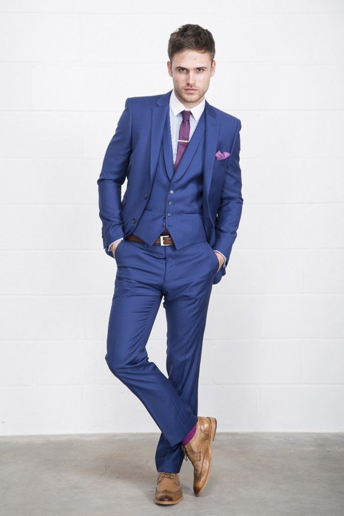 OnsSix5ive Slim Fit Blue Suit | Business Attire | Pinterest | Tops ...