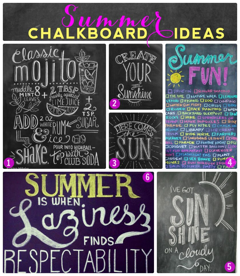 Summer Chalkboard Design Ideas | For the Home | Pinterest | Summer ...