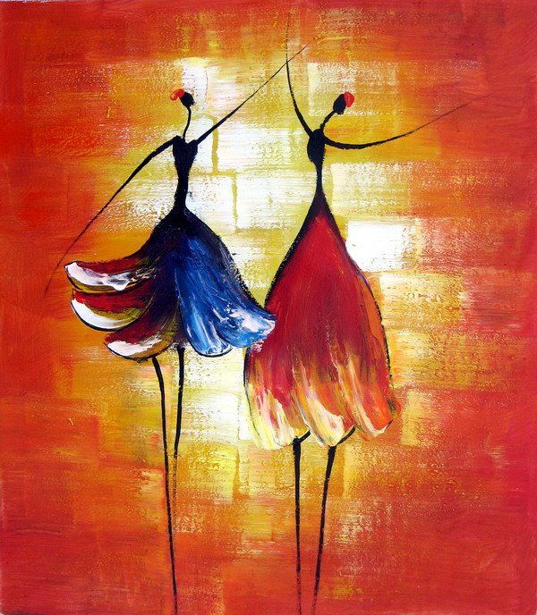 Hand Painted Oil Wall Art Beauty Dancer Home Decoration Modern Abstract Oil  Painting On Canvas
