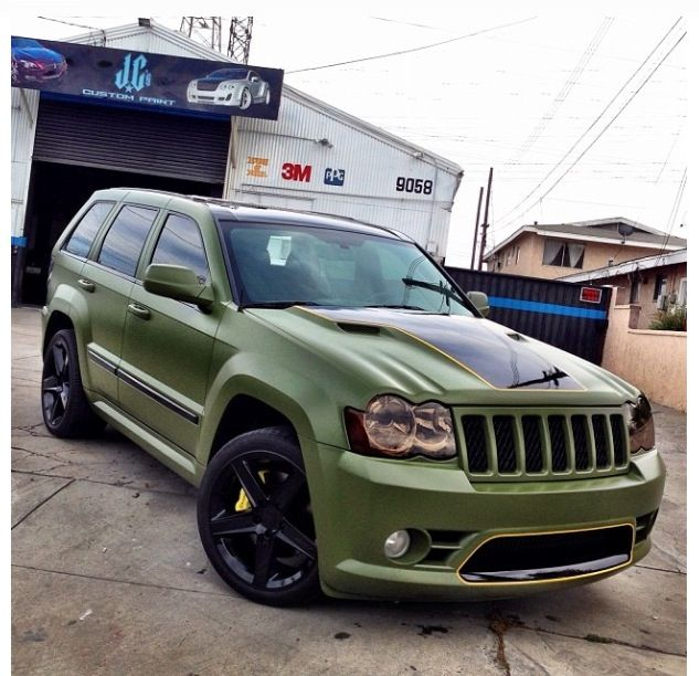 Matte Green Srt8 Cherokee Jeep Srt8 Jeep Grand Cherokee Srt