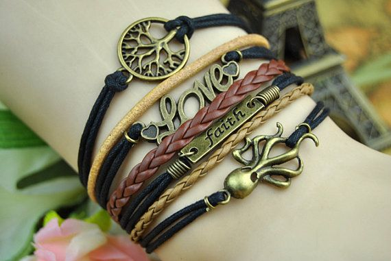 Vintage Bracelet Octopus BraceletLove Bracelet by BeautifulShow, $6.99