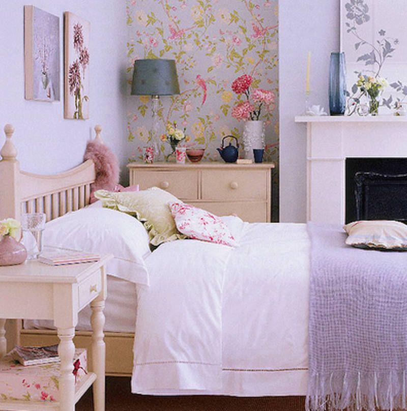 decorar con papel pintado D Ambientes Románticos Pinterest