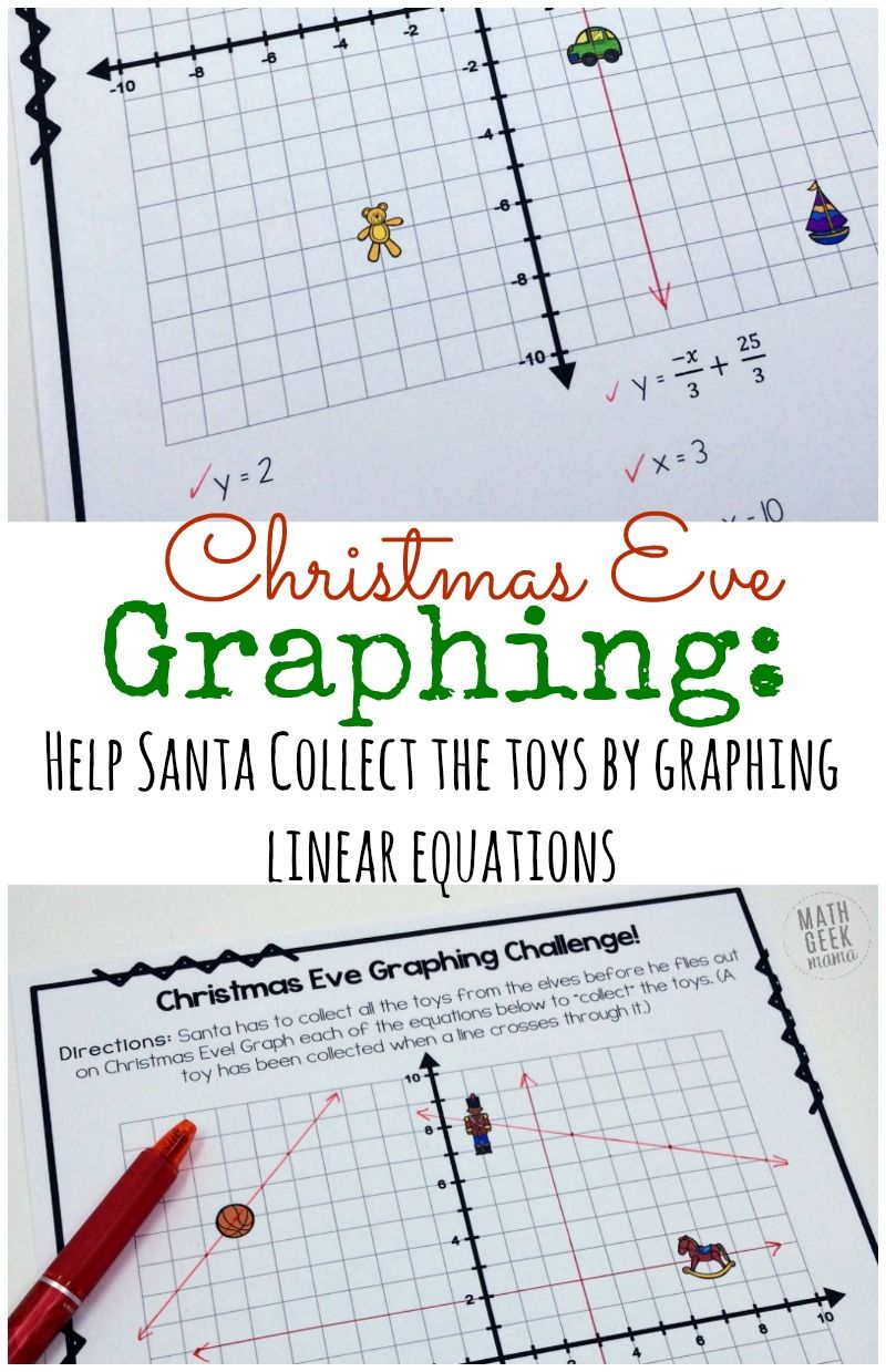 Christmas Challenge: Graphing Linear Equations Practice {FREE ...