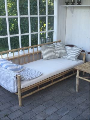 sofa bomuld 3 pers 3.400 kr.   Sofa, bomuld, 3 pers. , Tine K., Bambus loungesofa  sofa bomuld 3 pers