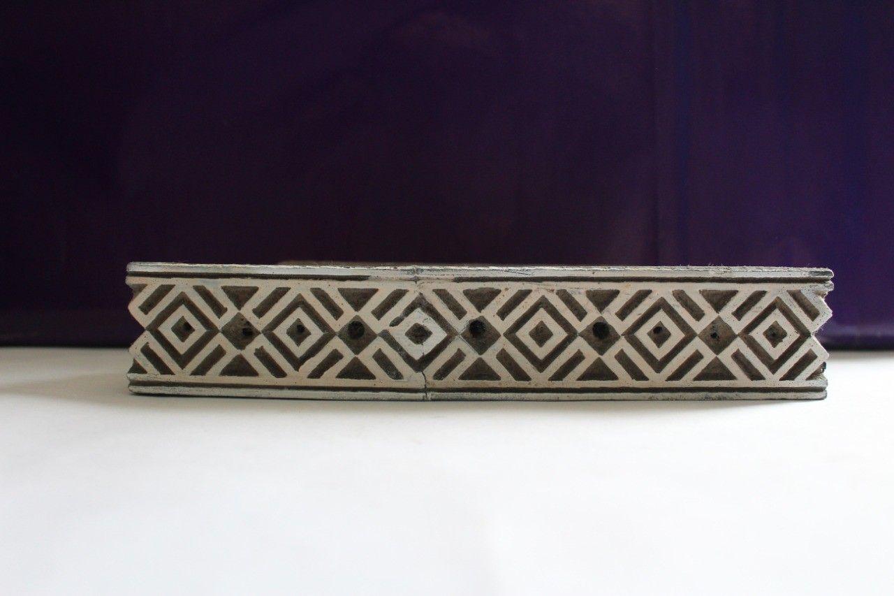 Wooden Printing Block Dye Geometrical Design Stamp Hand Carving Dye