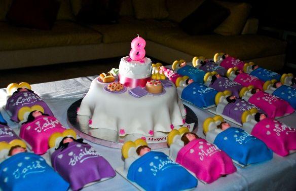 Awesome Sleepover Birthday Cake With Images Sleepover Cake Spa Party Funny Birthday Cards Online Inifodamsfinfo