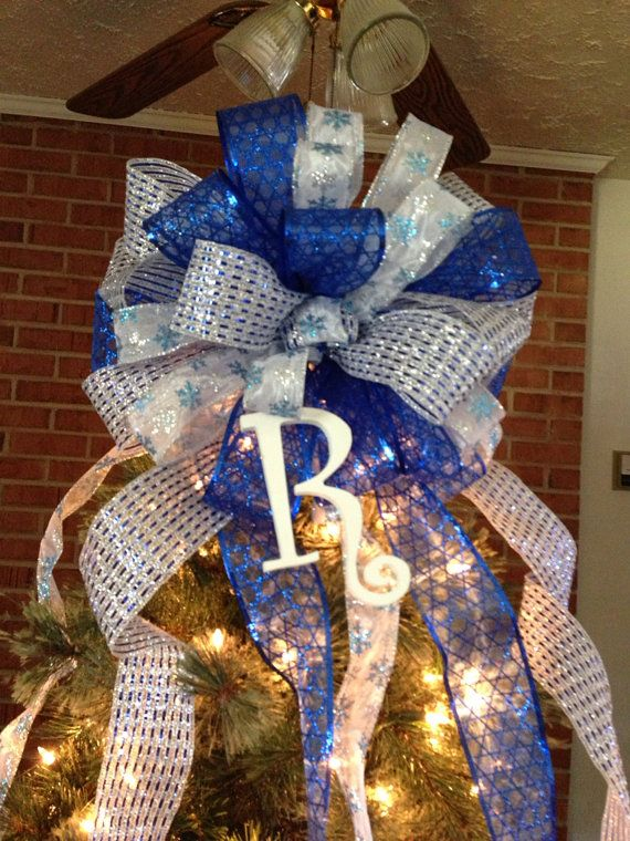 PreOrder For 2014 Monogrammed Tree Topper Bow on Etsy