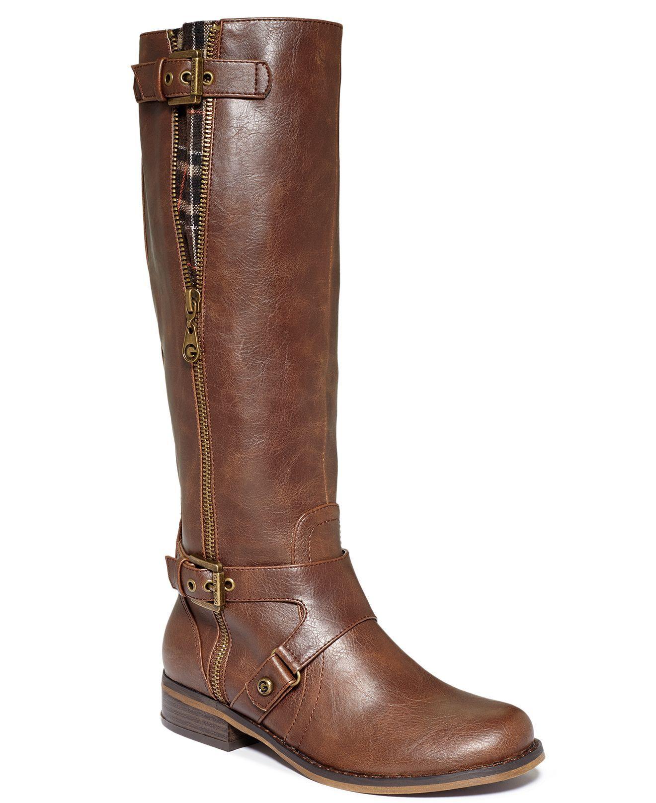 83e548b0e0e8f G by GUESS Women's Shoes, Hertlez Tall Shaft Wide Calf Riding Boots - Wide  Calf Boots - Shoes - Macy's