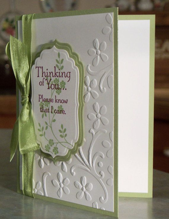 Handmade Sympathy Card Stampin' Up Thoughts  by WhimsyArtCards