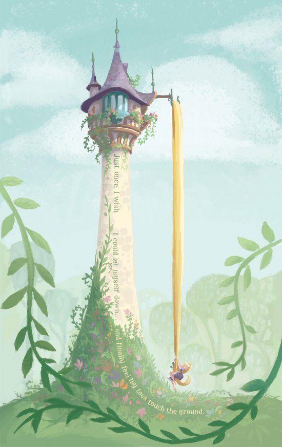 "fairytalemood:    ""Rapunzel"" by Claire Keane"