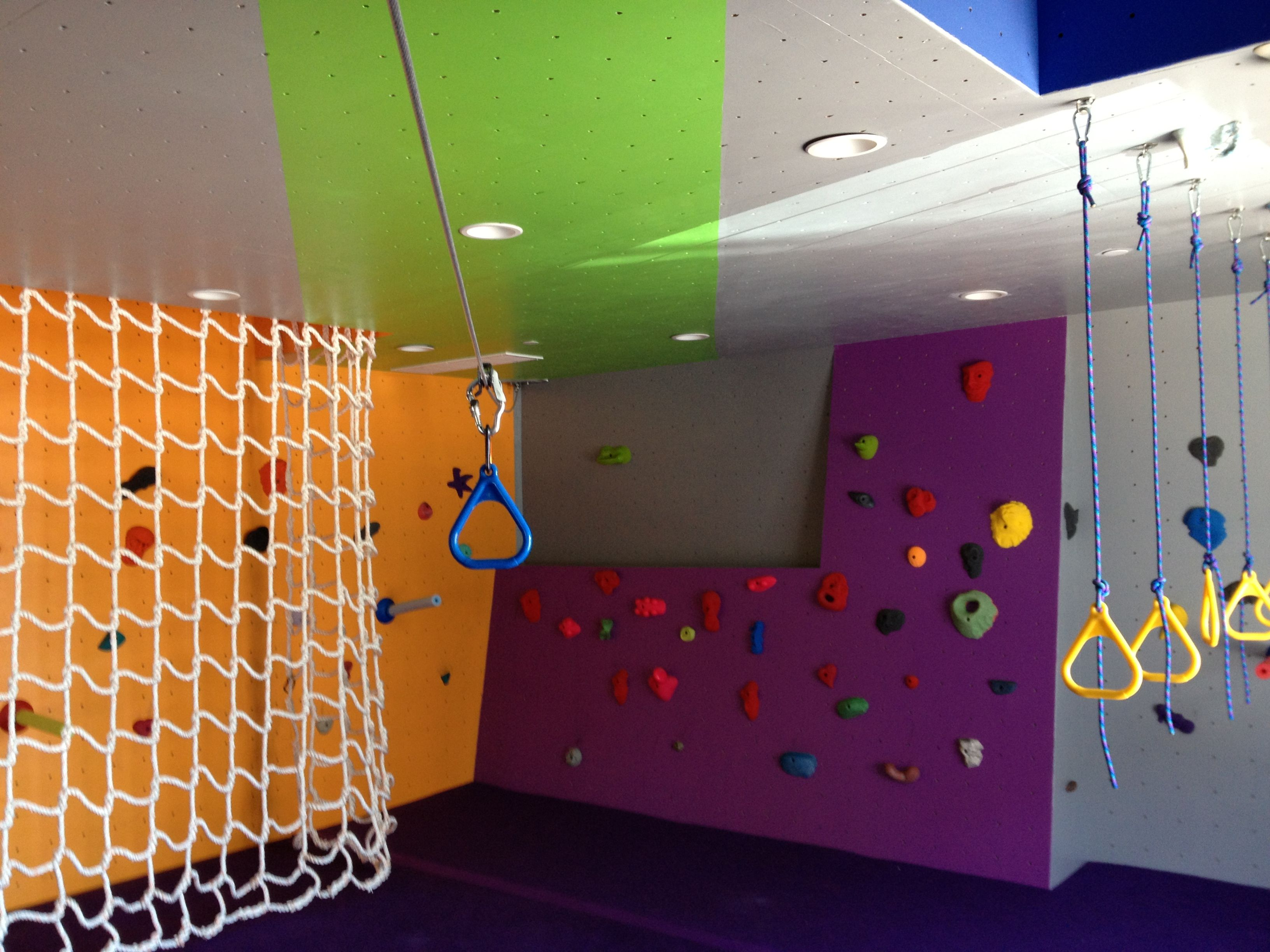 Abc Boulder Monkey Pavilion Climbing Gym Ropes Course Kids Playroom Toy Rooms Kids Climbing