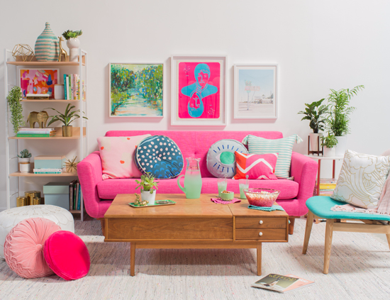 color adventures: oh joy decorates in pink and green | Pinterest ...
