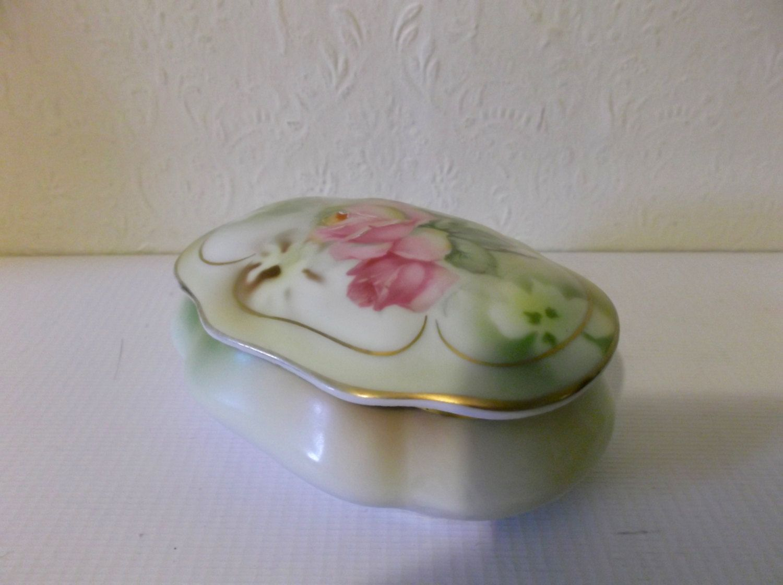 Vintage Pair of Yellow Porcelain Trinket Dishes Keys Dish Decorative Dish