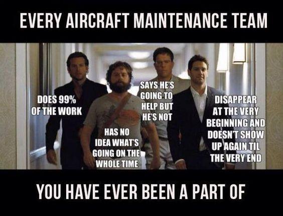 083ea1a47f960bb293c2a95d0234ca5d aviationhumor aircraftmaintenanceteam aircraftmaintenancehumor,Airplane Mechanic Funny Memes