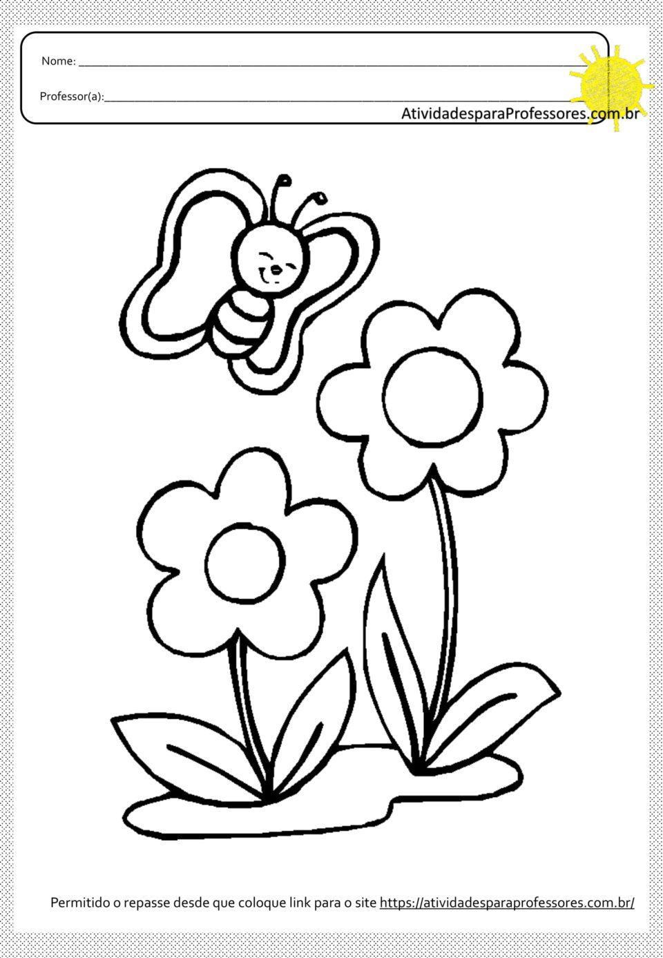 20 Atividades Para Colagens E Pinturas Em Flores Em Pdf