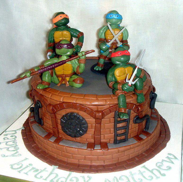 Cake Ninja Turles for a young boy Ninja Turtles cake cartoon
